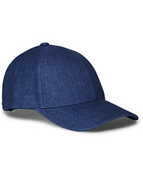 Varsity Linen Baseball Cap Oxford Blue