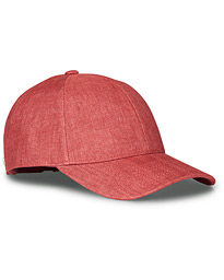 Varsity Linen Baseball Cap Amaranth Red