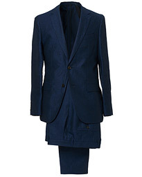 BOSS Nelin/Ben Vegan Linen Suit Blue