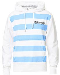 Helmut Lang Bars Hoodie Sweat Chalk White