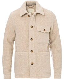 A Day's March Patch Pocket Heavy Wool Overshirt Sand