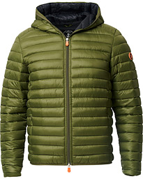 Save The Duck Lightweight Padded Hooded Jacket Dusty Olive