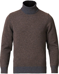 Wool/Cashmere Rollneck Brown