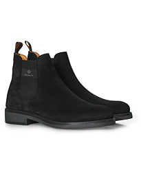 Brookly Chelsea Boot Black Suede