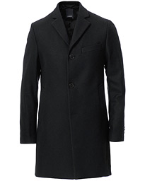 Wolger Compact Melton Coat Black