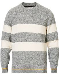 Brunello Cucinelli Cashmere Striped Sweater Grey/White