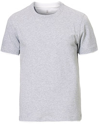 Contrast Collar T-Shirt Grey/White