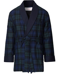 Wool Tartan Smoking Jacket Blackwatch