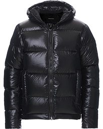 Rivel Vernis Down High Gloss Hodded Jacket Black