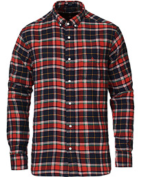 Regular Fit Doublefaced Flannel Shirt Bright Red