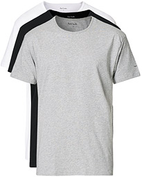 3-Pack T-shirt White/Black/Grey