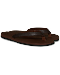 The Resort Co Saffiano Leather Flip-Flop Brown/Brown