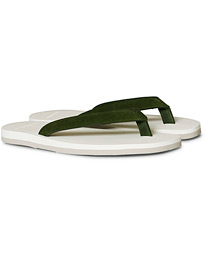 The Resort Co Suede Flip-Flop Green/White