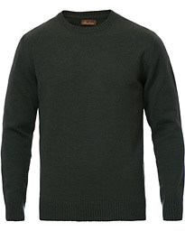 Heavy Knitted Merino Crew Neck Green