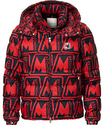 Moncler Frioland Hooded Down Jacket Red/Multi