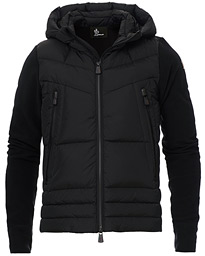 Moncler Grenoble Hybrid Full Zip Pile Jacket Black