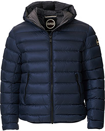 Concrete Down Hooded Jacket Navy