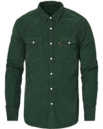 Slim Fit Corduroy Western Shirt Sycamore