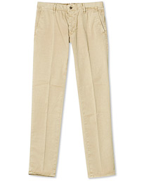 Slim Fit Garment Dyed Slacks Beige