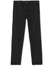 Slim Fit Garment Dyed Slacks Black