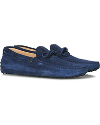 Laccetto Gommino Carshoe Navy Suede