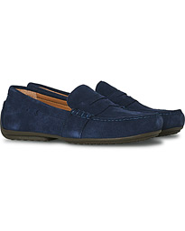 Reynold Driving Loafer Navy Suede