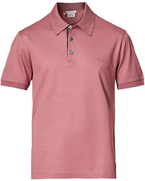Contrast Placket Polo Piquet Rosa