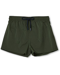 Man Plain Swim Shorts Military
