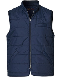 Quilted Nylon Vest Navy