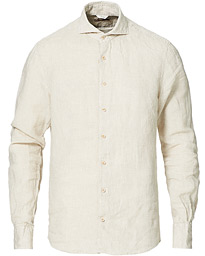 Slimline Linen Cut Away Shirt Oat