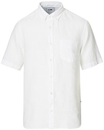 Tyrion Linen Short Sleeve Shirt White