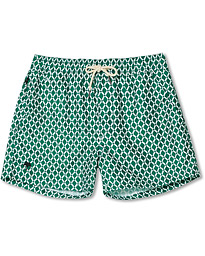 Printed Swimshorts Green Tile