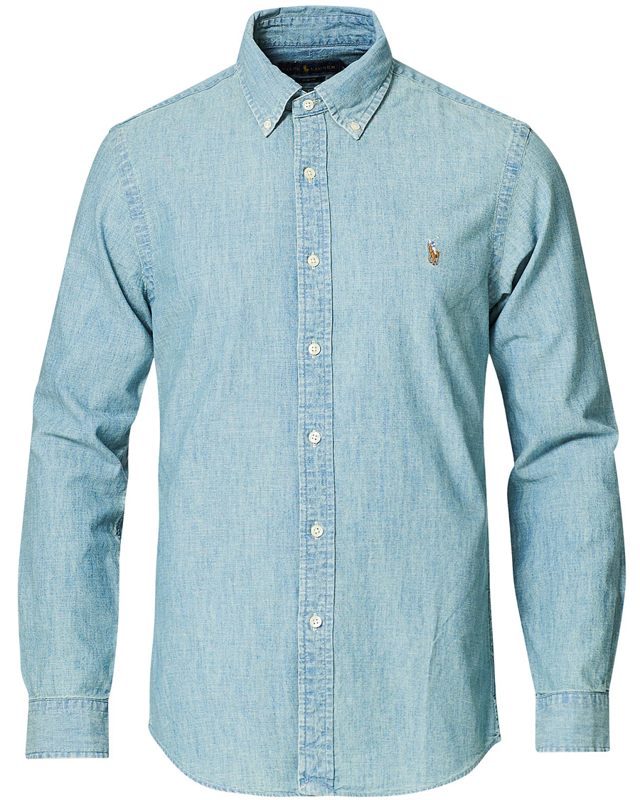Polo Ralph Lauren Slim Fit Chambray Shirt Washed XS