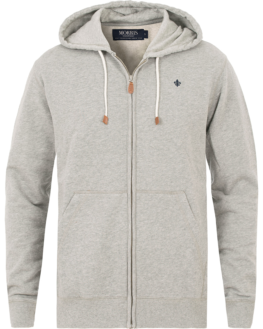 Morris Full Zip Hoodie Light Grey Melange XS