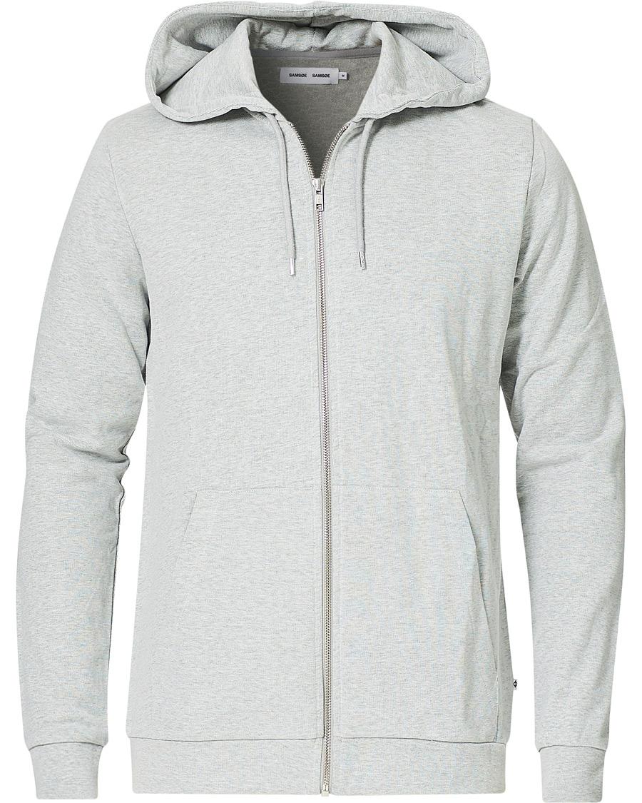 Samsøe & Samsøe Enno Full Zip Hoodie Light Grey Melange S