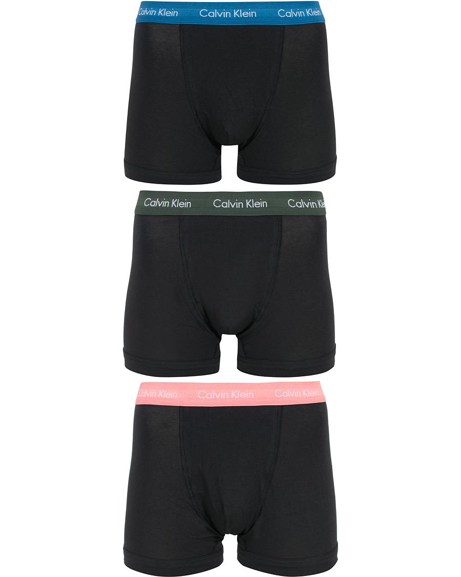Calvin Klein Cotton Stretch 3 Pack Trunk GreenBluePink bei