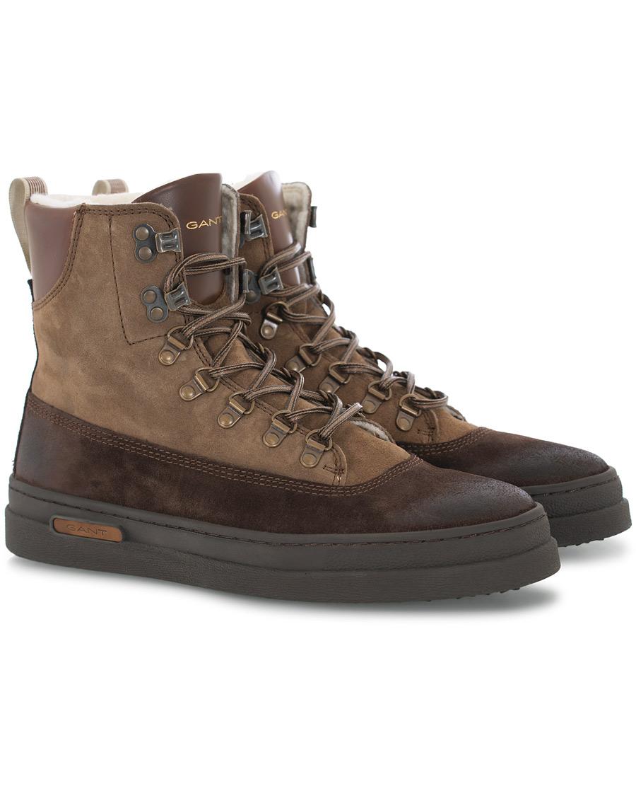 GANT Creek Wool Lined Boot Dark Brown Suede 43