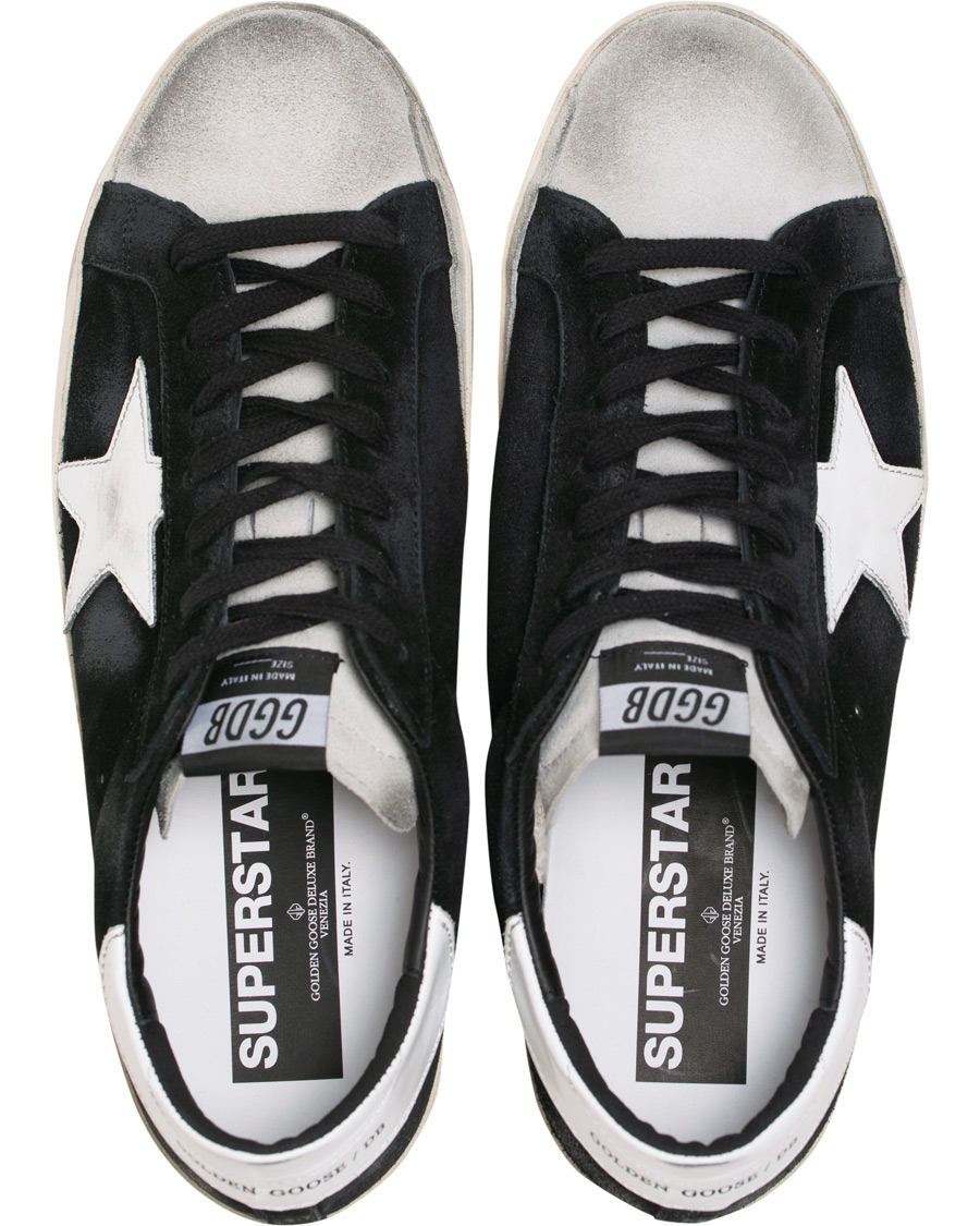 Golden Goose Deluxe Brand White Star Ice Superstar Sneaker Black Suede 43
