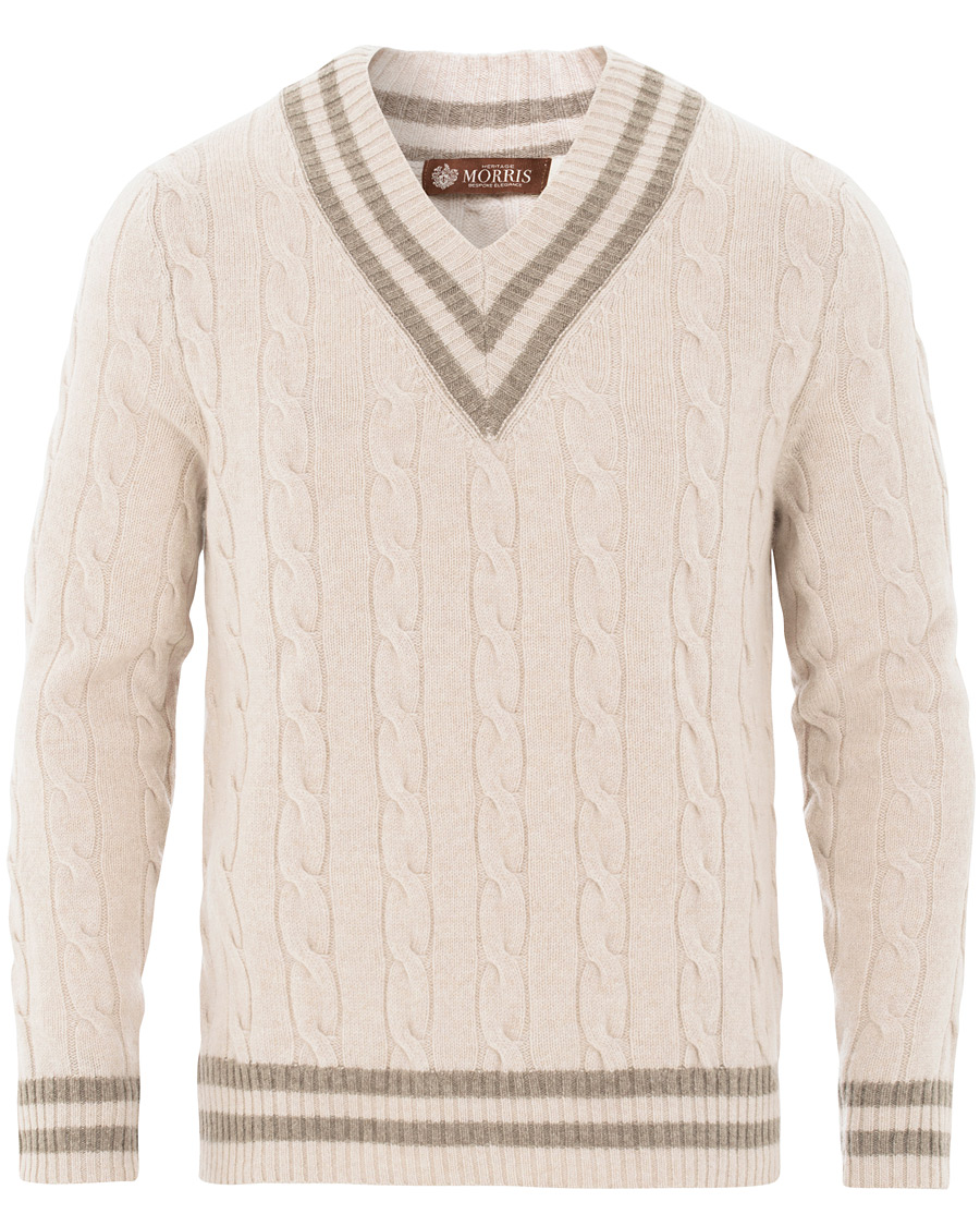 Morris Heritage Heritage Cricket Cashmere Sweater Off White S